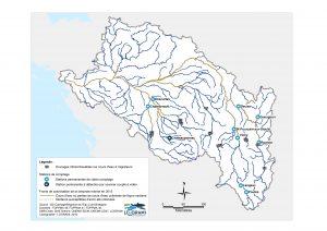 Fronts de colonisation de la lamproie marine sur les cours d'eau du bassin de la Loire en 2015