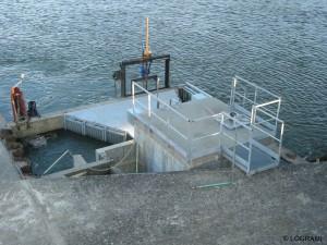 Local submersible de la station de comptage de Decize Saint Léger les Vignes