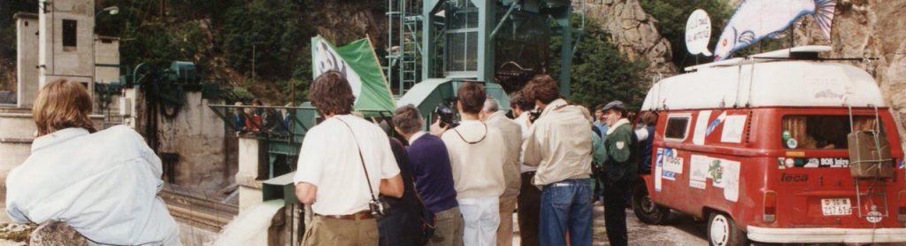 manifestation à Poutès en 1991