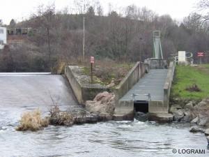 Passe à poissons du barrage des Forges de Gueugnon